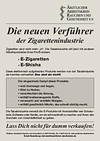 gesundheitsrisiko e zigarette